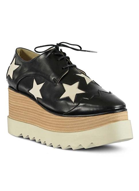 Marjin Dolgu Topuk Ayakkabı Siyah